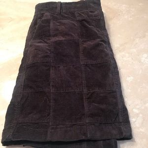 Dark brown cord mini skirt